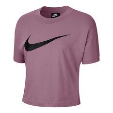 Nike Womens Sportswear Swoosh Tee, Purple, rebel_hi-res