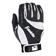 Franklin Junior Baseball Batting Glove Black / White S, Black / White, rebel_hi-res