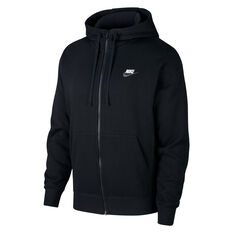 Nike Mens Sportswear Club Fleece Full-Zip Hoodie Black XS, Black, rebel_hi-res