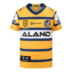 Parramatta Eels 2020 Kids Away Jersey Yellow / Blue 6, Yellow / Blue, rebel_hi-res