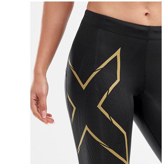 2XU Womens MCS Run Compression Shorts, Black, rebel_hi-res