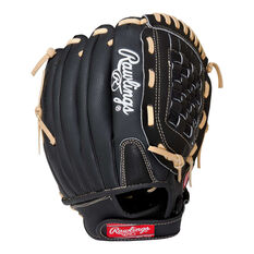 Rawlings SS Right Hand Baseball Glove Black / Brown 12in Right Hand, Black / Brown, rebel_hi-res