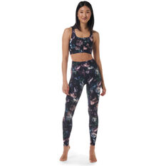 Ell & Voo Womens Shelby Zip Sports Bra, Print, rebel_hi-res