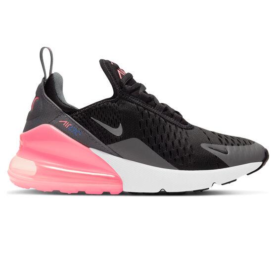 Nike Air Max 270 Kids Casual Shoes, Black/Pink, rebel_hi-res