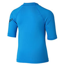 Quicksilver Boys All Time Short Sleeve Rash Vest Blue 2, Blue, rebel_hi-res