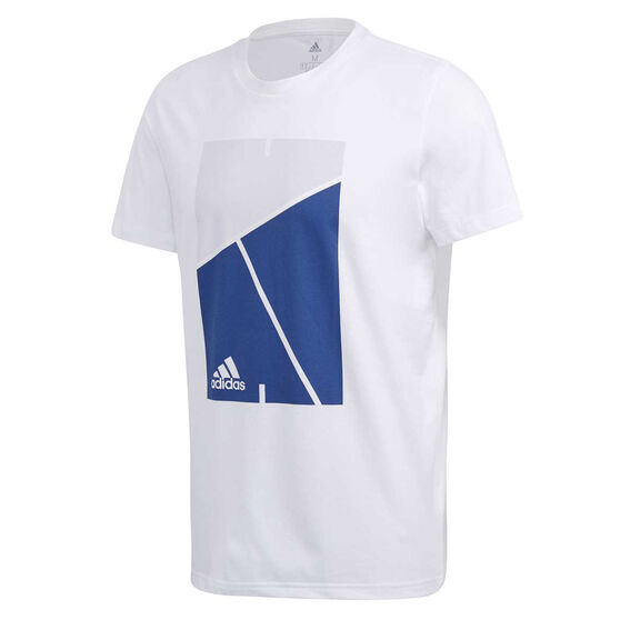 adidas Mens Court Tee, White, rebel_hi-res