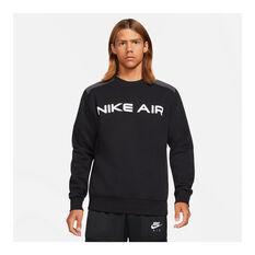 Nike Mens Air Crew Sweatshirt Black XS, Black, rebel_hi-res