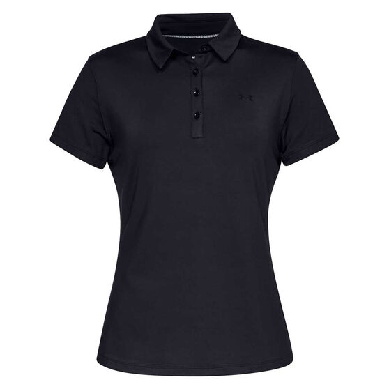 Under Armour Womens Zinger Polo Black XL, Black, rebel_hi-res
