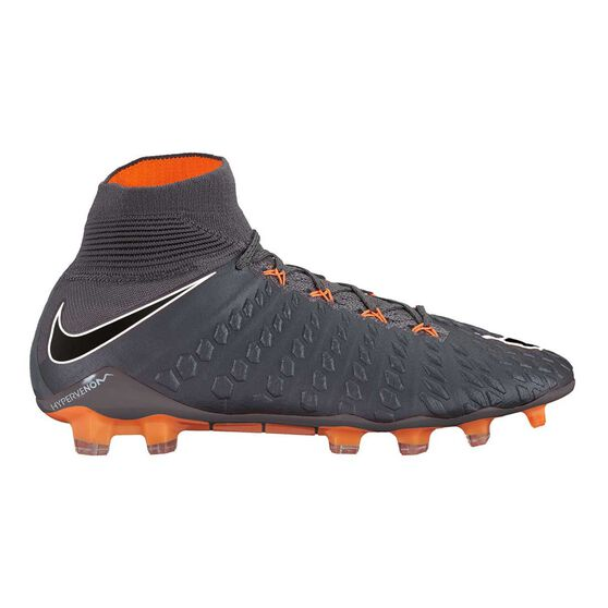 4a8abecb2a8e Nike Hypervenom Phantom III Elite DF Mens Football Boots Grey / Orange US 7  Adult,