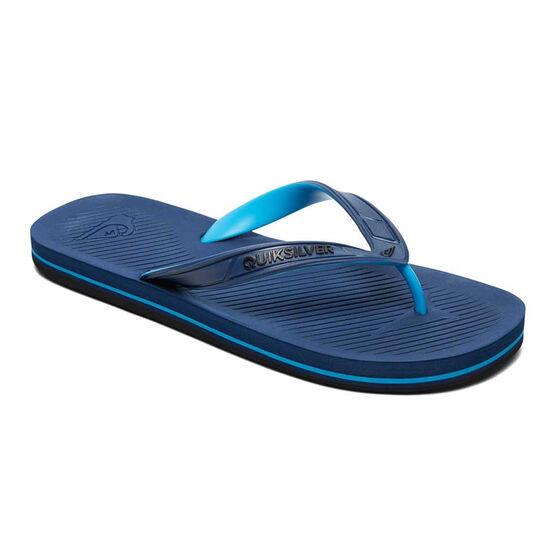 Quiksilver Haleiwa Mens Thongs, Blue / Black, rebel_hi-res