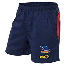 Adelaide Crows 2019 Mens Training Shorts Navy S, Navy, rebel_hi-res