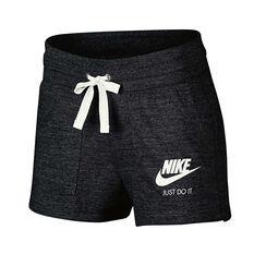 Nike Womens Vintage Gym Shorts Black XS Adult, Black, rebel_hi-res