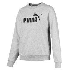 Puma Womens Essentials Crew Sweatshirt Grey XS, Grey, rebel_hi-res