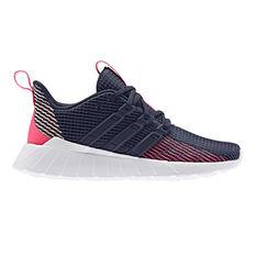 adidas Questar Flow Kids Running Shoes Navy / Pink US 11, Navy / Pink, rebel_hi-res