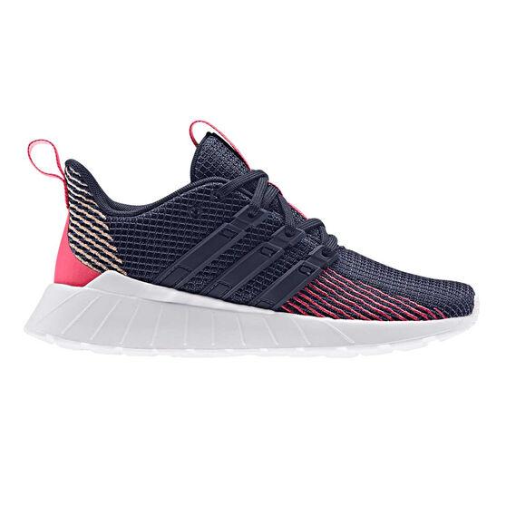 adidas Questar Flow Kids Running Shoes, Navy / Pink, rebel_hi-res