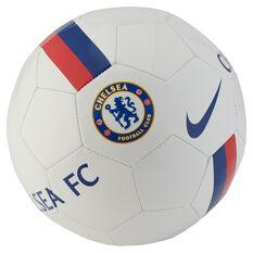 Nike Chelsea FC Sports Soccer Ball White / Blue 4, White / Blue, rebel_hi-res