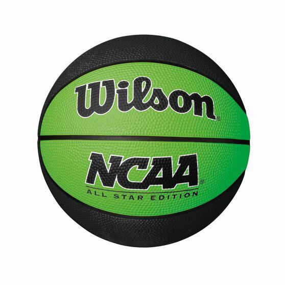 Wilson NCAA Mini Basketball Black / Lime 3, Black / Lime, rebel_hi-res
