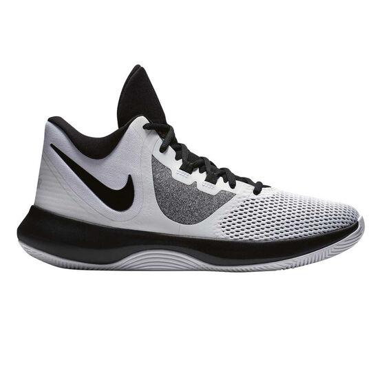 Nike Air Precision II Mens Basketball Shoes White / Black US 9, White / Black, rebel_hi-res