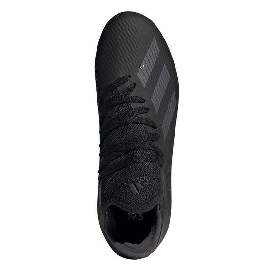 adidas X 19.3 Kids Football Boots, Black / Silver, rebel_hi-res