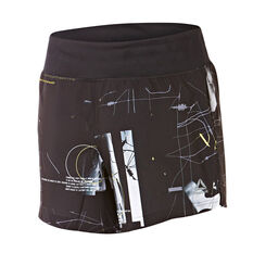 Reebok Womens Woven 5in All Over Print Shorts Black XS, Black, rebel_hi-res