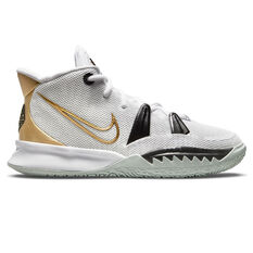 Nike Kyrie 7 Kids Basketball Shoes White US 4, White, rebel_hi-res