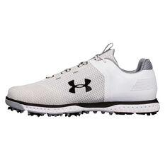 Under Armour Fade RST Mens Golf Shoes White / Black US 8, White / Black, rebel_hi-res