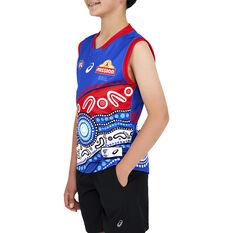 Western Bulldogs 2021 Kids Indigenous Guernsey, Blue, rebel_hi-res