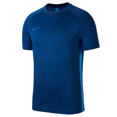 Nike Mens Dri FIT Academy Soccer Tee Blue S, Blue, rebel_hi-res
