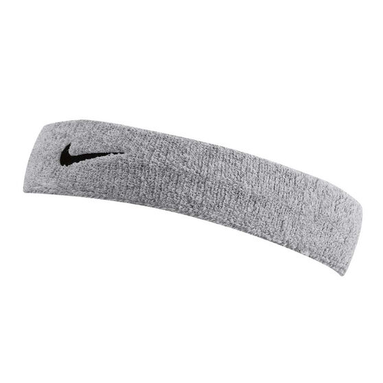 Nike Swoosh Headband Silver / Black OSFA, Silver / Black, rebel_hi-res