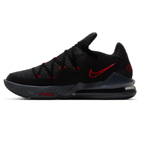 Nike Lebron XVII Low Mens Basketball Shoes Black/Red US 10, Black/Red, rebel_hi-res