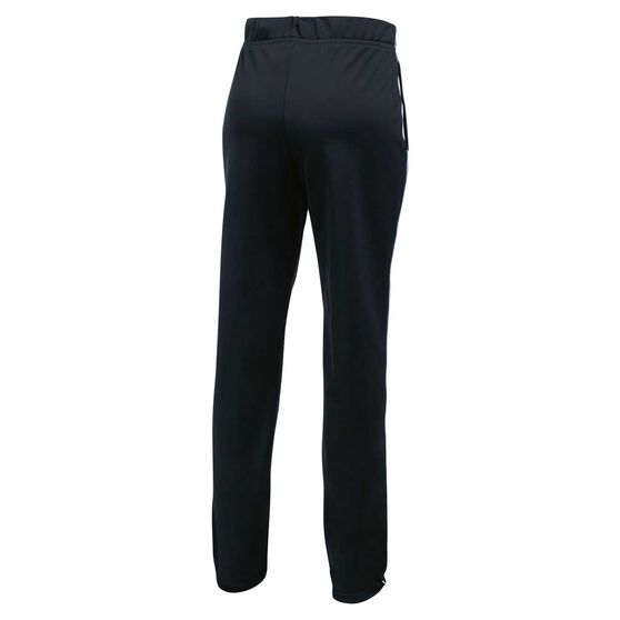 Under Armour Girls Track Pants, Black / White, rebel_hi-res