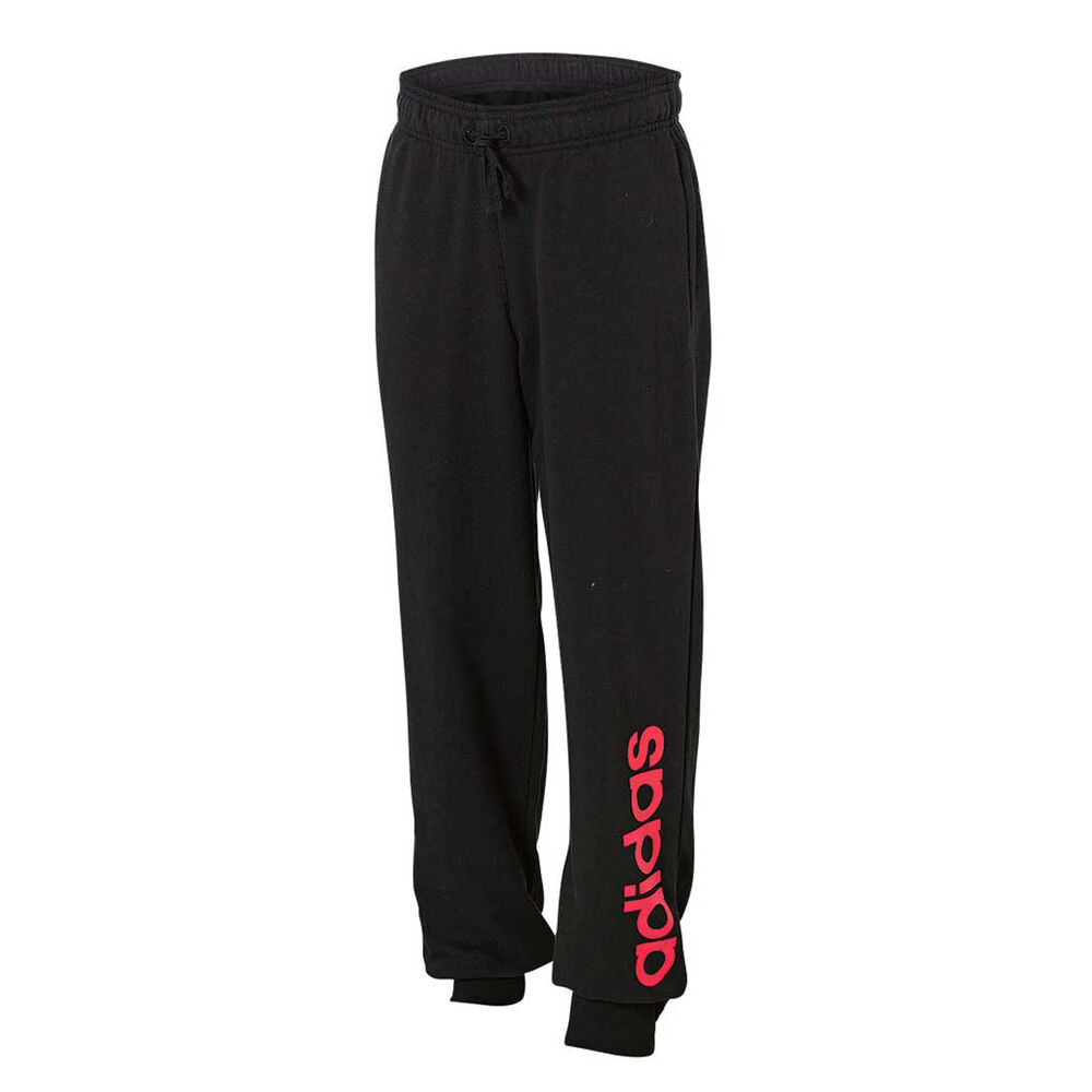 922818559bf9 adidas Girls Linear Pants Black   Pink 8