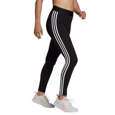 adidas Womens Loungewear Essentials 3-Stripes Tights Black XS, Black, rebel_hi-res