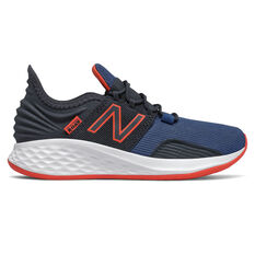 New Balance Fresh Foam Roav Kids Running Shoes Black/White US 11, Black/White, rebel_hi-res