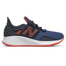 New Balance Fresh Foam Roav Kids Running Shoes Black/White US 11, Black/White, rebel_hi-res