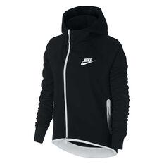 Nike Womens Sportswear Tech Fleece Cape Black XS, Black, rebel_hi-res
