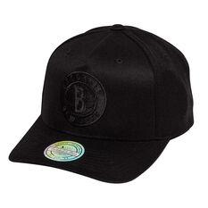 Brooklyn Nets Black On Black 110 Pinch Cap, , rebel_hi-res