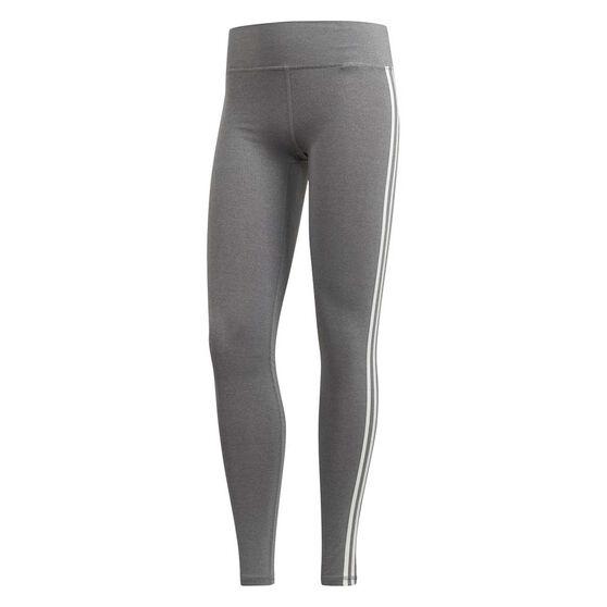 adidas Womens Believe This 3-Stripes Tights, Black, rebel_hi-res