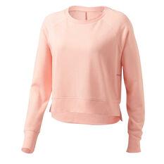 Ell & Voo Womens Rocky Crew Sweatshirt Pink XS, Pink, rebel_hi-res