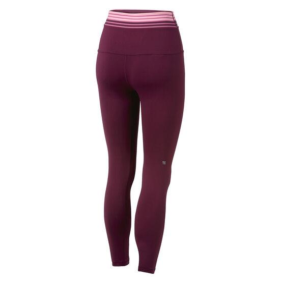 Ell & Voo Womens Rosalie 7/8 Tights, Purple, rebel_hi-res