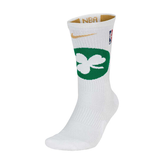Nike Boston Celtics 2019/20 Elite Crew Socks White / Green XL, White / Green, rebel_hi-res