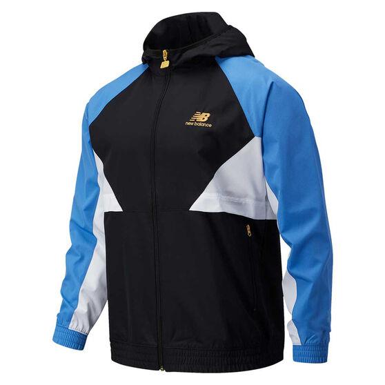 New Balance Mens Athletics Windbreaker Jacket, Black, rebel_hi-res