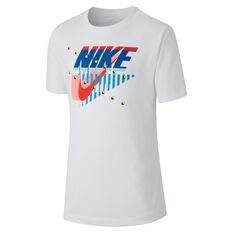 Nike Boys Dri-Fit Futura Matrix Tee White XS, White, rebel_hi-res