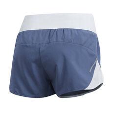 adidas Womens Run It 3in Shorts Navy XS, Navy, rebel_hi-res