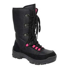 Rojo Chalet Womens Apres Boots Black / Pink US 6, Black / Pink, rebel_hi-res