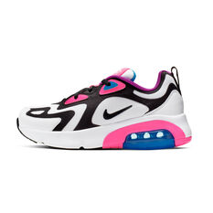 Nike Air Max 200 Kids Casual Shoes White / Pink US 4, White / Pink, rebel_hi-res