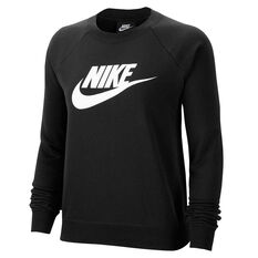 Nike Womens Essential Fleece Sweatshirt Black XS, Black, rebel_hi-res