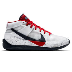 Nike KD13 Mens Basketball Shoes White/Red US 7, White/Red, rebel_hi-res