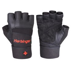 Harbinger Mens Pro Wristwrap Weight Gloves, , rebel_hi-res