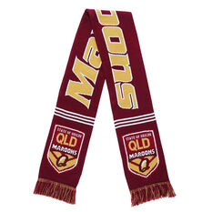 QLD Maroons State of Origin 2019 Jacquard Scarf, , rebel_hi-res